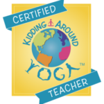 certified kidding around yoga teacher badge