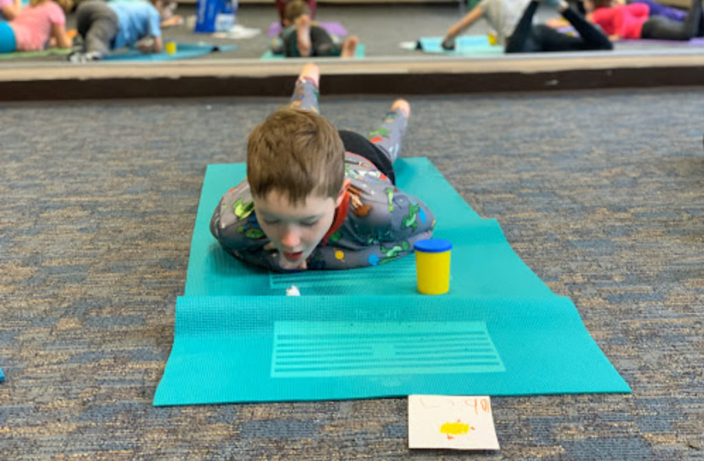 kids yoga breathing exercise